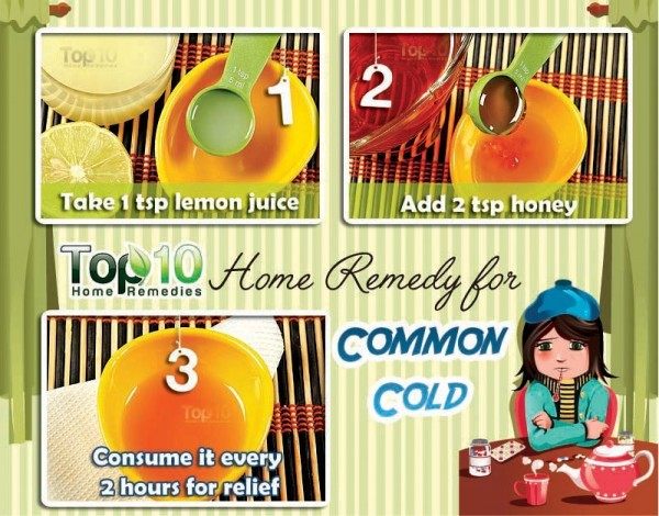 common cold lemon honey remedy