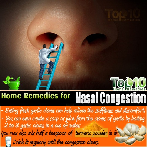 nasal congestion home remedies