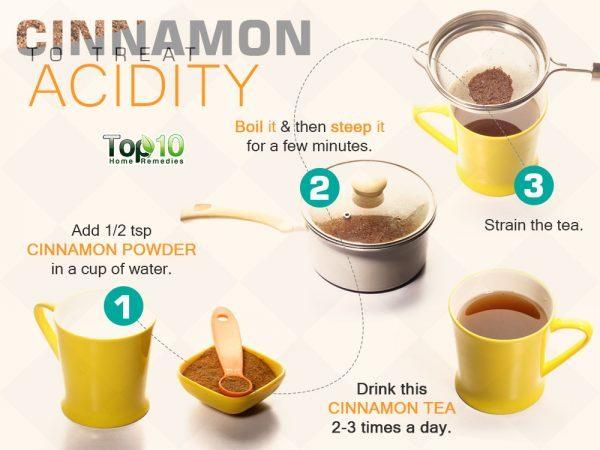 cinnamon for acidity