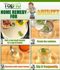 acidity remedy using basil leaves