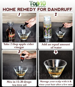 apple cider vinegar dandruff remedy