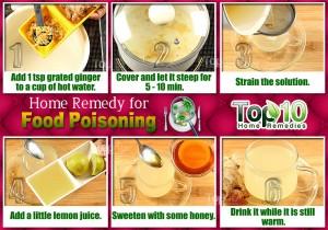Ginger Tea for food poisoninig