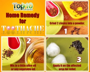 tooth pain cure using cloves