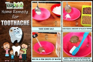 toothache home remedy salt pepper