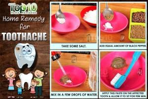 toothache home remedy salt pepper