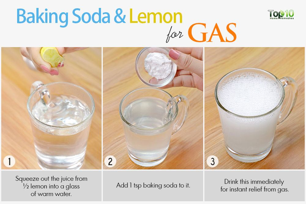 baking soda and lemon remedy for stomach gas