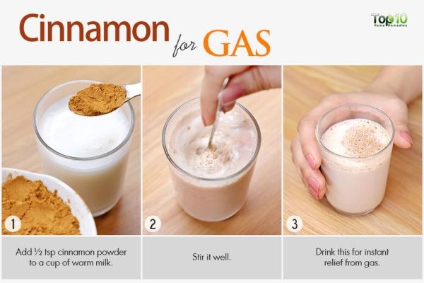 cinnamon home remedy for abdominal gas