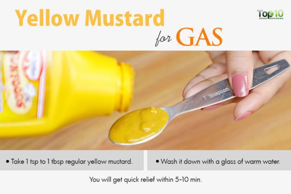 yellow mustard for gas pains