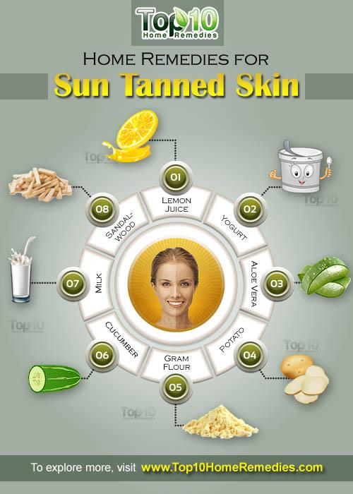 home remedies for suntanned skin