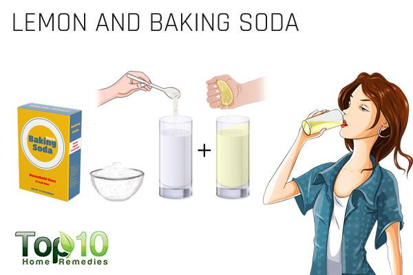 lemon and baking soda to treat stomach gas