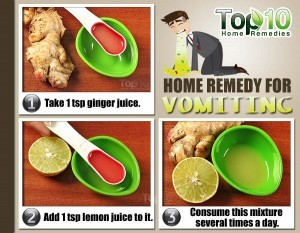 vomiting home remedy