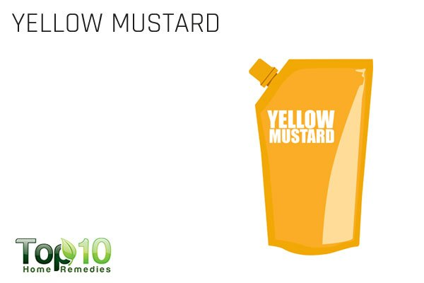 yellow mustard to ease gas