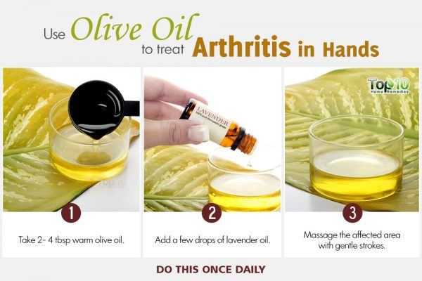 use olive oil to treat arthritis in hands