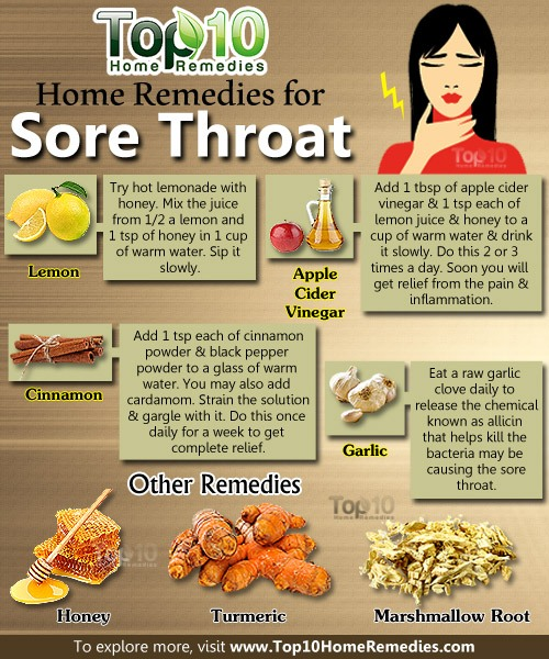 home remedy for sore throat