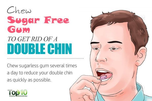 sugarless gum to get rid of double chin