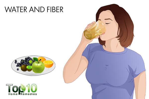 water and fiber for constipation