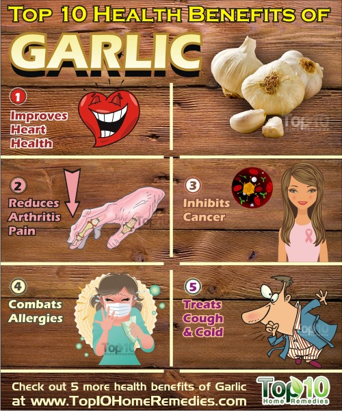 Top 10 Health Benefits Of Garlic Top 10 Home Remedies