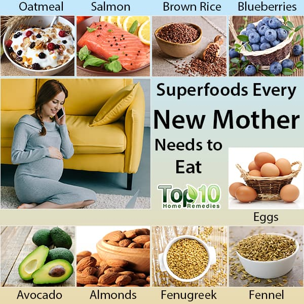 superfoods every new mother should eat