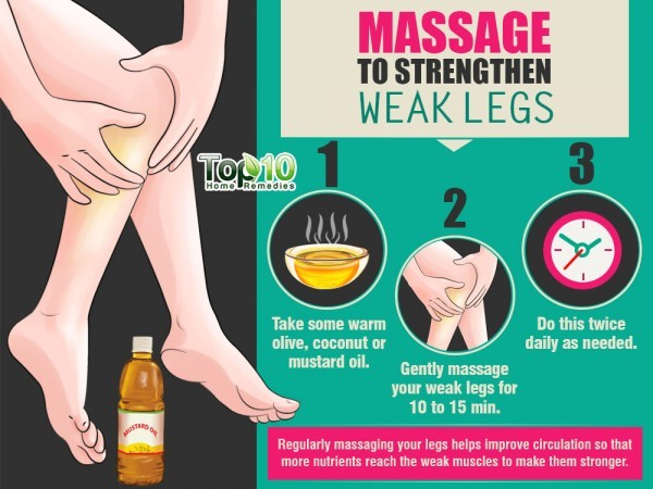massage to strengthen weak legs