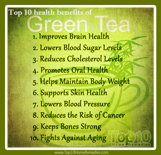Just three to four cups of green tea today can do your health a big favor.  Here are the top 10 health benefits of green tea.