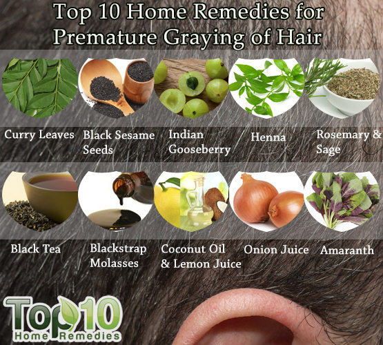White hair home remedies