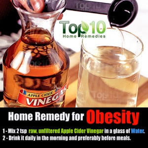 apple cider vinegar remedy for obesity