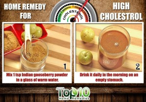 high cholestrol home remedy using Indian Gooseberry