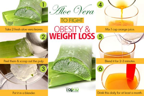 aloe vera juice for obesity