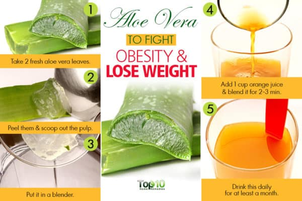 aloe vera juice for obesity and weight loss