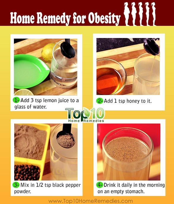 Obesity Home Remedy Mix Three Teaspoons Of Lemon Juice One