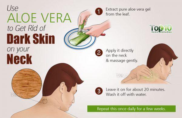 aloe vera for dark skin on your neck