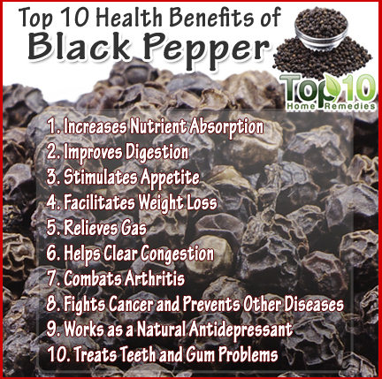 black pepper benefits