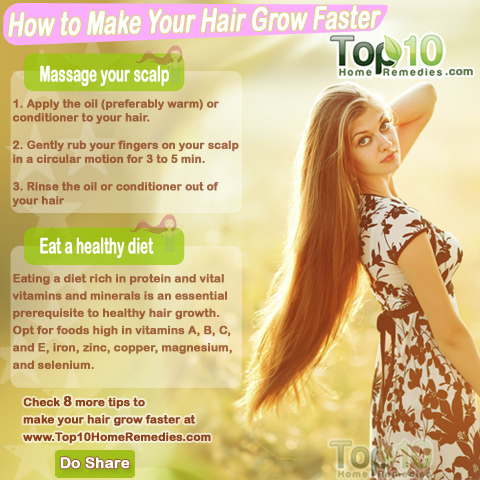 Natural Ways To Make Hair Grow Long Fast