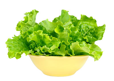 green lettuce in a bowl