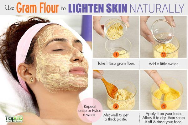 lighten skin color with gram flour face mask