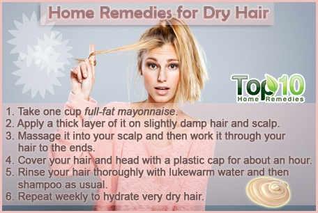 Homemade hair treatment dry