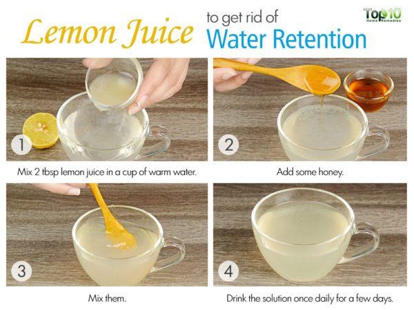 lemon juice for water retention