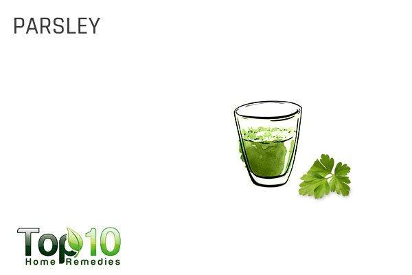 parsley for water retention