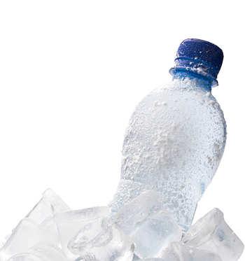 frozen water bottle for sore feet