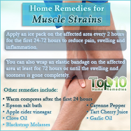 home-remedies for a muscle strain