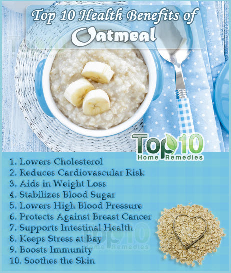 top 10 oatmeal benefits