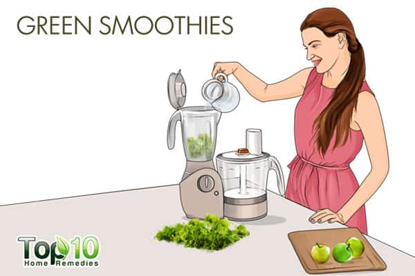 Green smoothies for detoxification