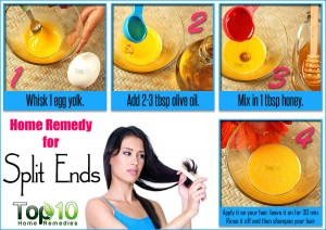 home remedy for split ends
