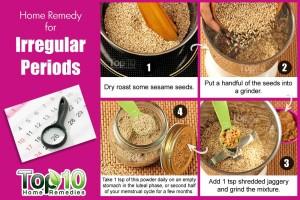 irregular periods remedy