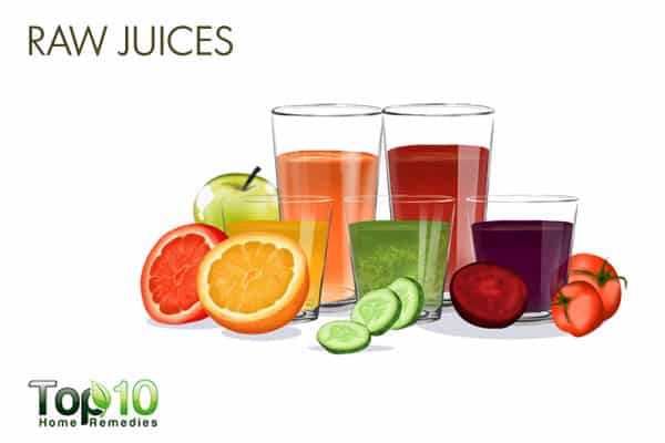Raw juices for detoxification