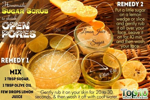 Sugar Scrub for Reducing Large Pores