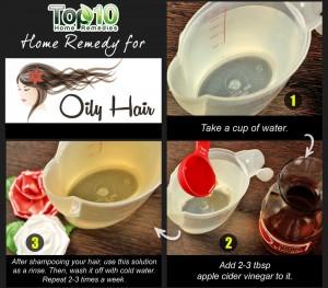 oily hair home remedy