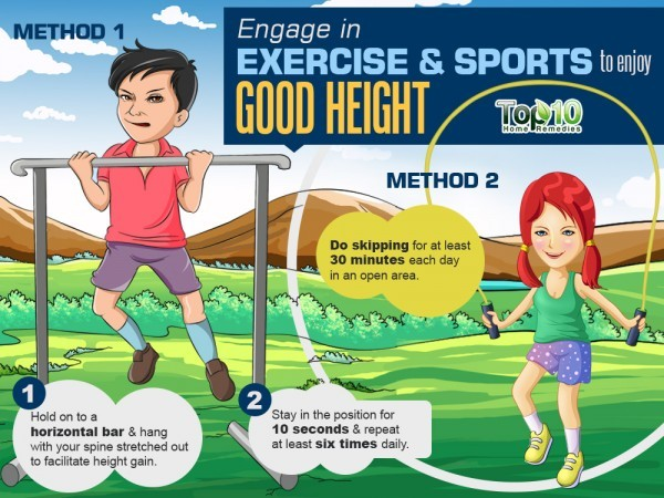 engage in exercise to increase height