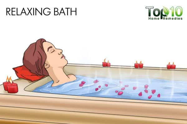 relaxing bath for anxiety