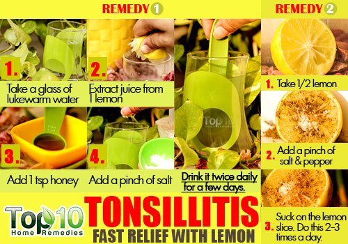 tonsillitis relief home remedy